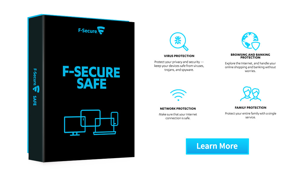 F-Secure - Internet safety Ireland - best antiviruses
